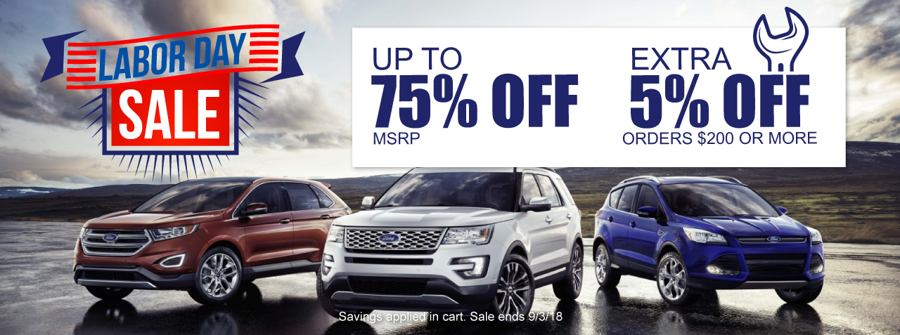 Discount Ford Parts Labor Day Sale