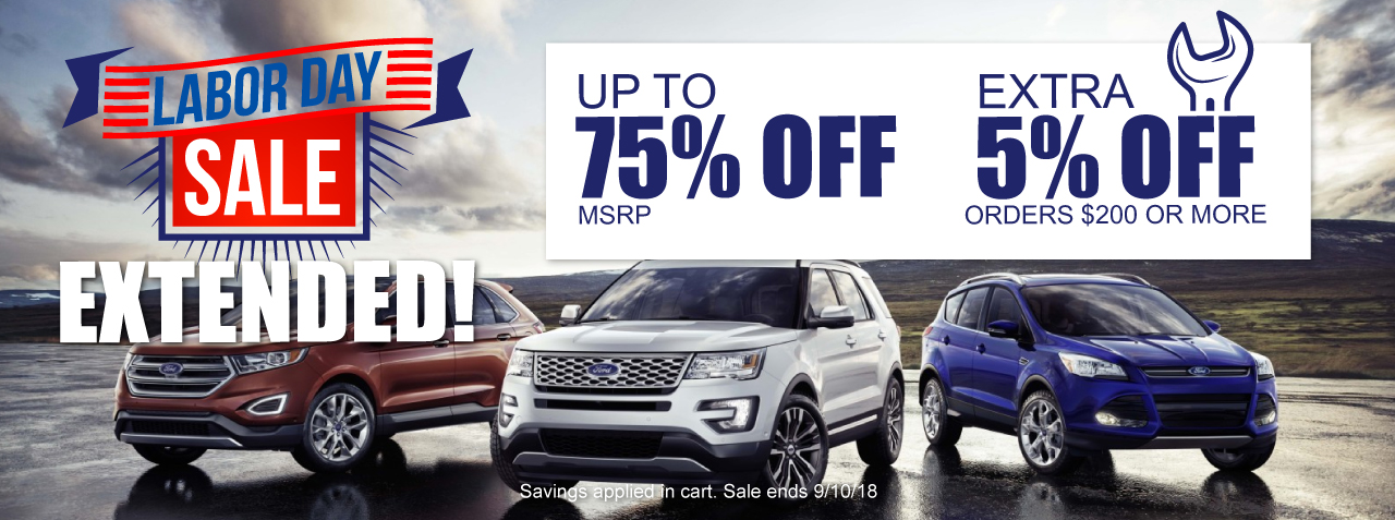 Discount Ford Parts Labor Day Sale Extended